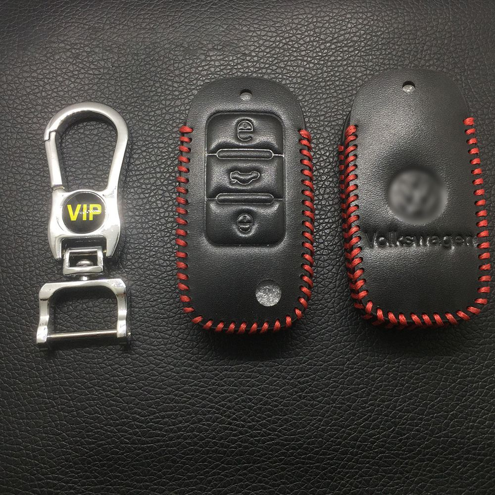 Leather Case for Volkswagen B5 Smart Car Key - 5 Sets