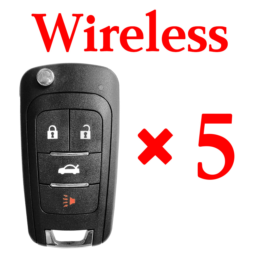 5 pieces Xhorse VVDI GM Type 1 Wireless Universal Remote Control -Comes with Blades & Logos