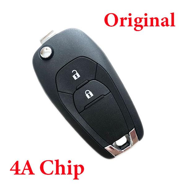 Original Remote Flip Key 2 Button 434mhz for Chevrolet Auto Car Key Fob Remote with 4A Chip