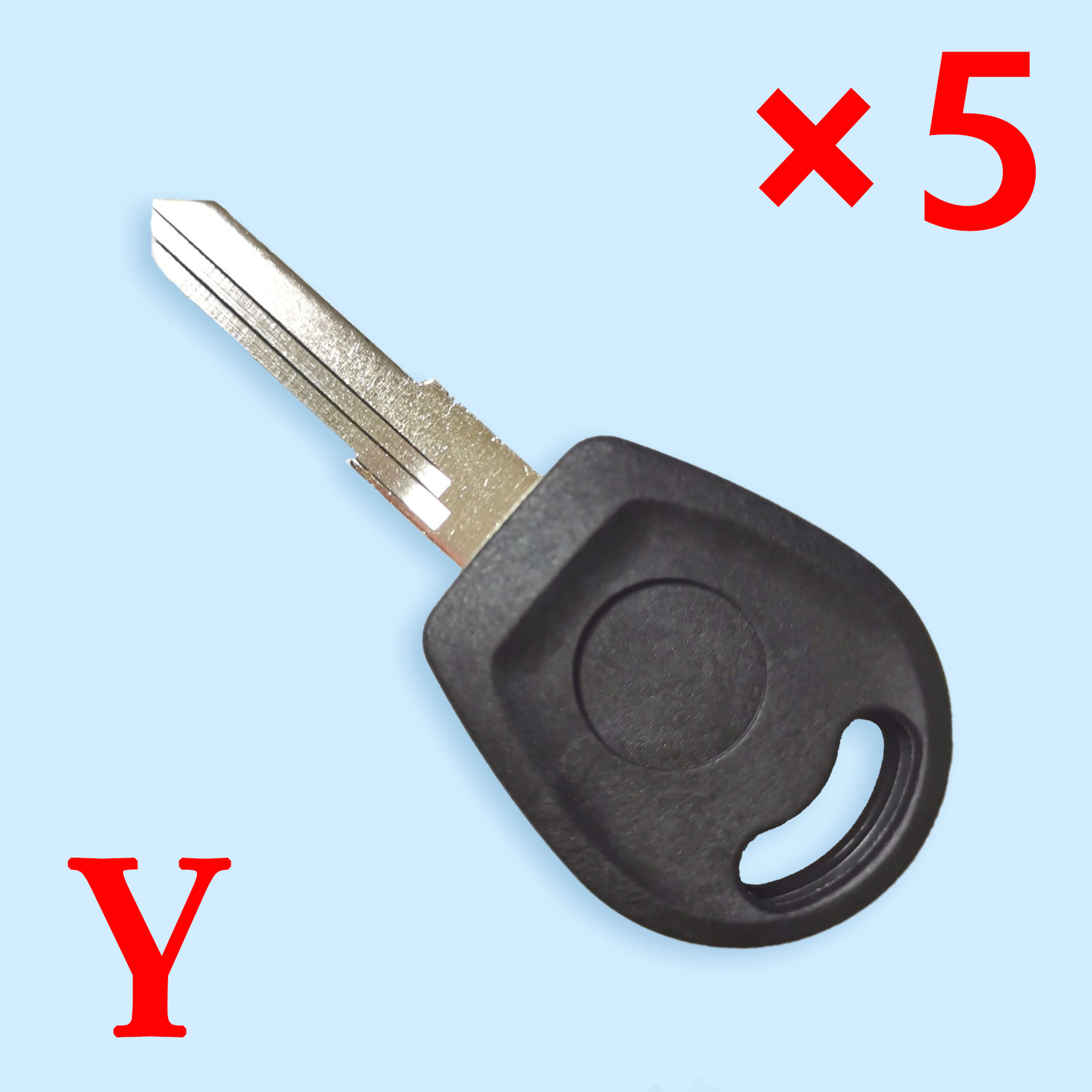 Transponder Key Shell for VW with HU49 Blade - Pack of 5