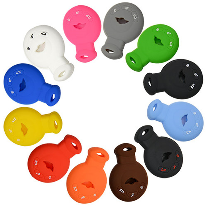 Silicone Cover for 3 Buttons BMW Mini Car Keys - 5 Pieces
