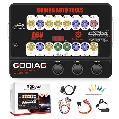 GODIAG GT100 Auto Tool OBDII Break Out Box ECU Connector