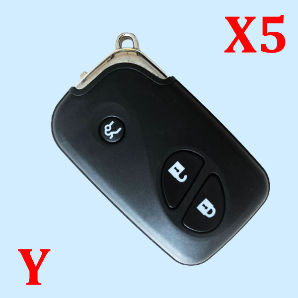 New Replacement Shell Smart Remote Key Case Fob Keyless Entry 3 Button For Lexus IS250 ES350 GS350 LS460 GS  - Pack of 5