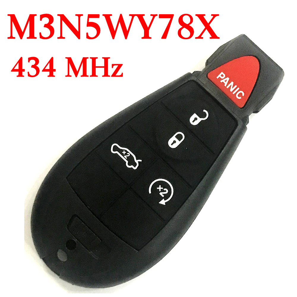 434 MHz 5 Buttons Remote Fobik Key for Chrysler / Dodge 2008-2013 - M3N5WY783X
