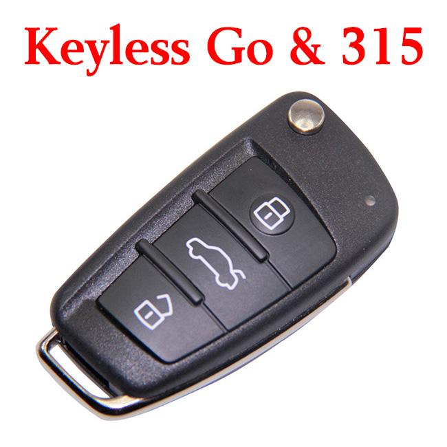 Original Audi A6L Q7 Smart Proximity Key 3 Buttons 315 MHz - 8E Chip 4F0 837 220AG