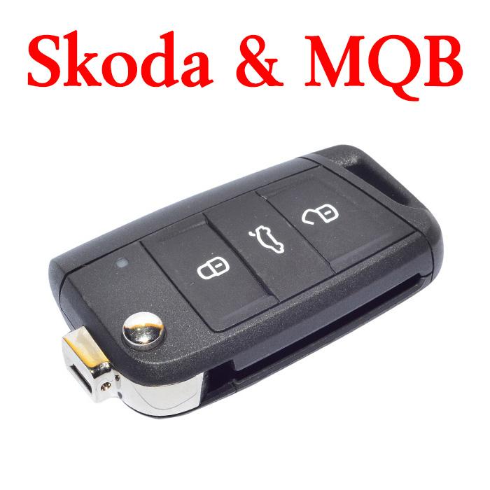 Original 3 Buttons 434 MHz MQB Flip Remote Key for VW Skoda Octavia 5E0 959 752A