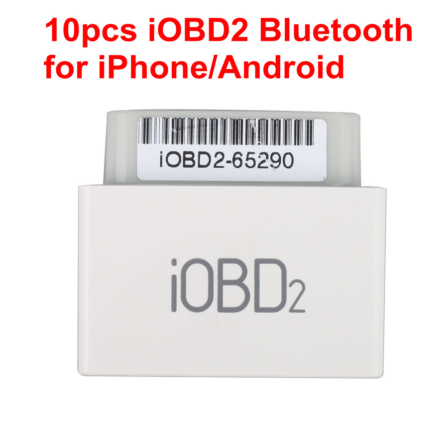 10 pcs iOBD2 Bluetooth OBD2 EOBD Auto Scanner for iPhone/Android