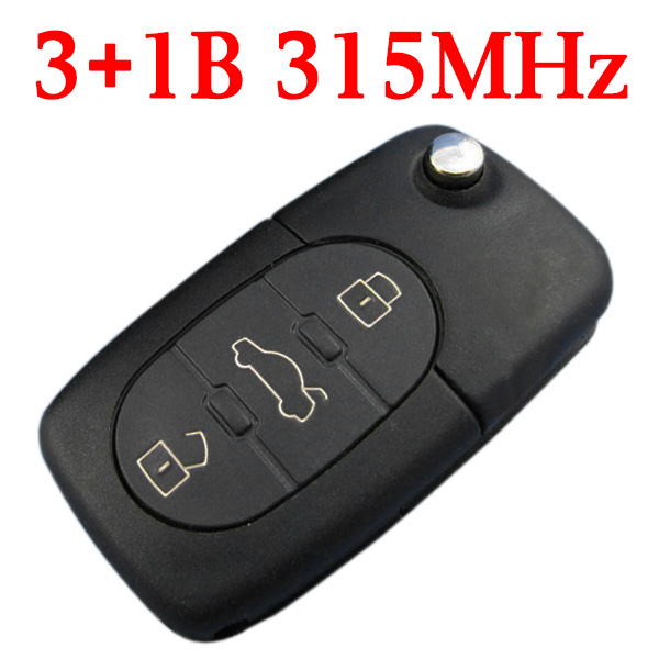 315 MHz 3+1 Buttons Flip Remote Key for Audi