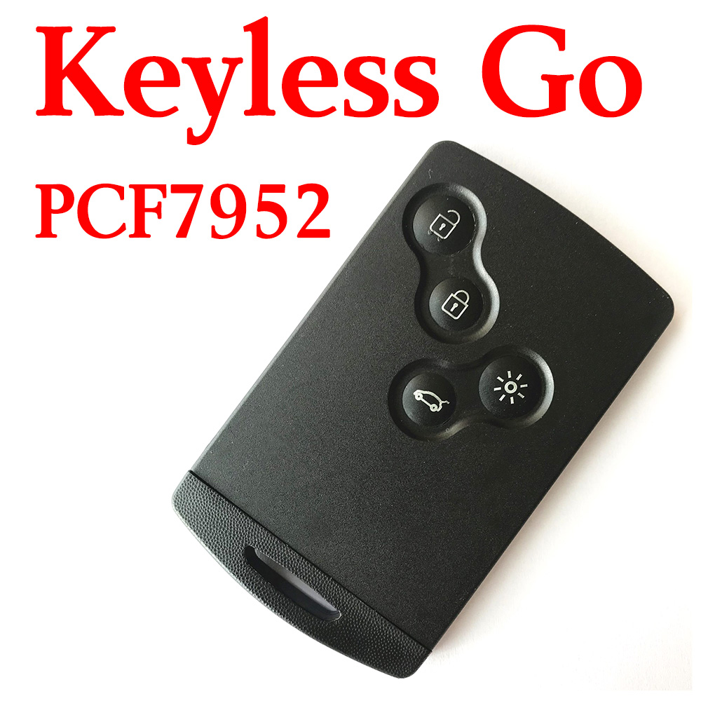 4 Buttons 434 MHz Smart Proximity Card for Renault Megane
