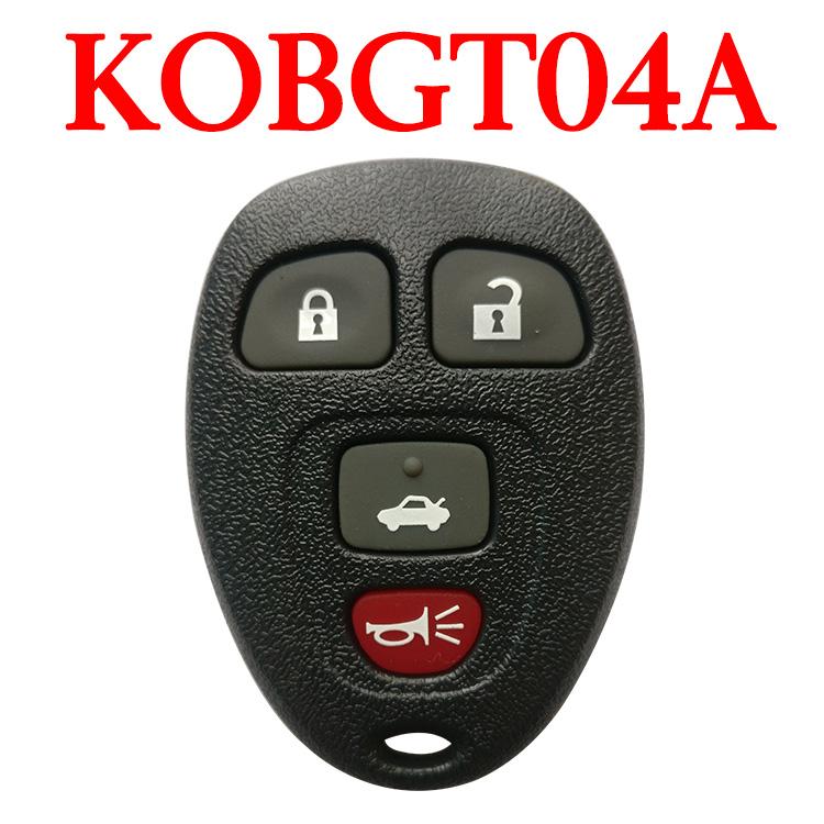 3+1 Buttons 315 MHz Remote Control for GMC Chevrolet - KOBGT04A
