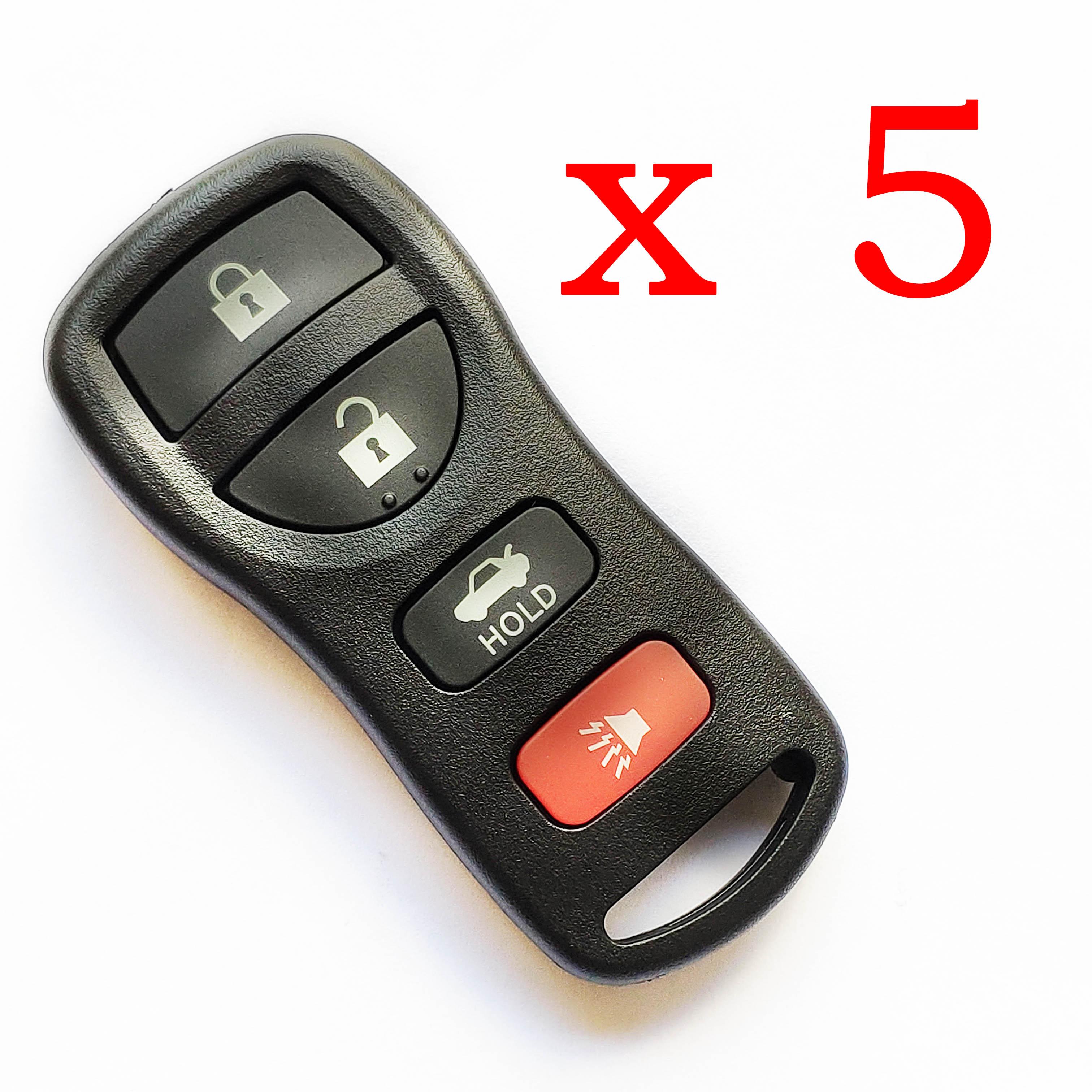 5 pieces Nissan Type Universal Remote Control for Xhorse VVDI - XKNI00EN