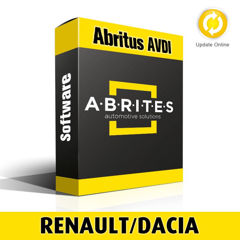 RR009 Renault/Dacia Instrument Cluster Module Recalibration Software for Abritus AVDI