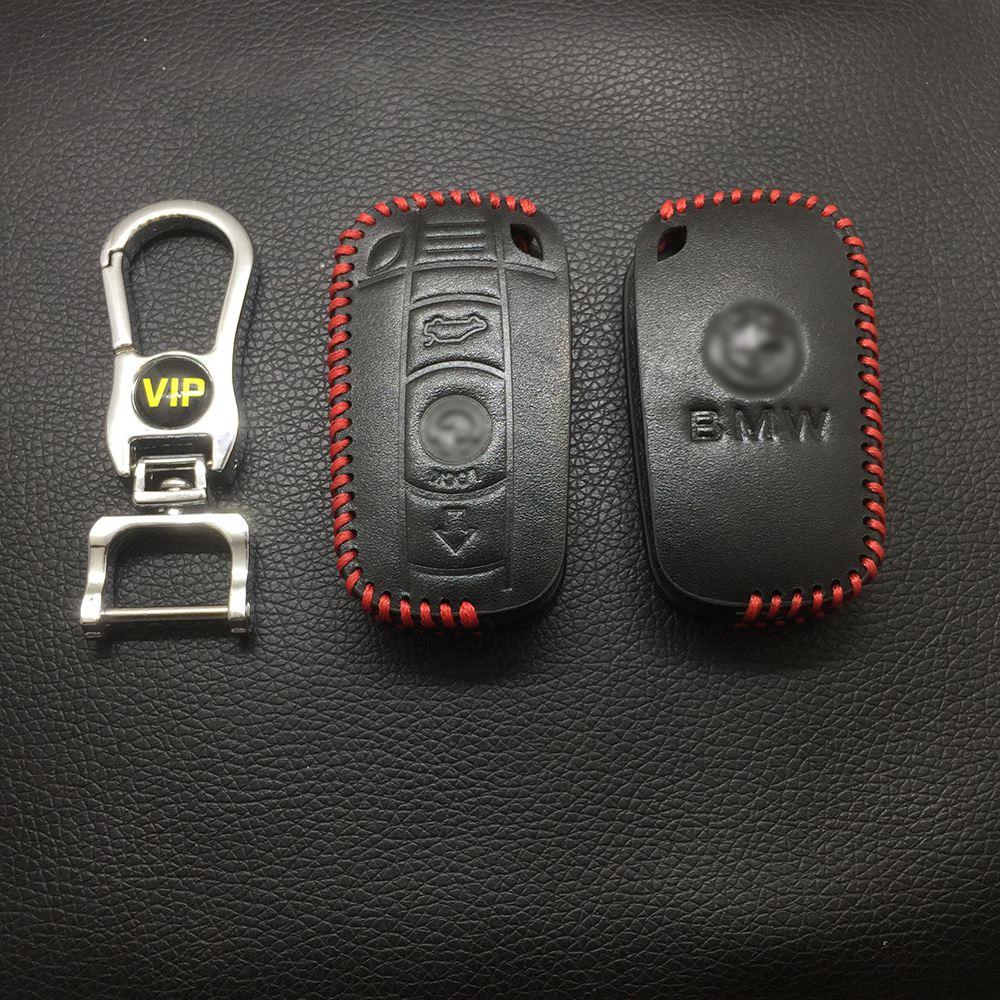 Leather Case for BMW CAS3 Smart Card Car Key - 5 Sets
