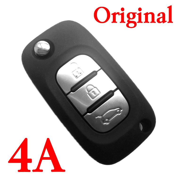 3 Buttons OEM Flip Remote Key 433MHz with 4A chip for Mercedes-Benz Smart Fortwo 453 Forfour 2015-2017