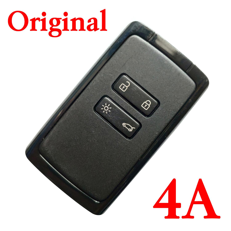 Original 4 Buttons 433MHz Hitag AES 4A Smart Car Key Card for Renault Megane 4 Talisman Kadjar Espace 5