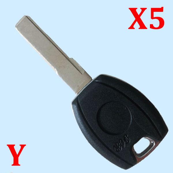 Transponder Key Shell for VW- Pack of 5