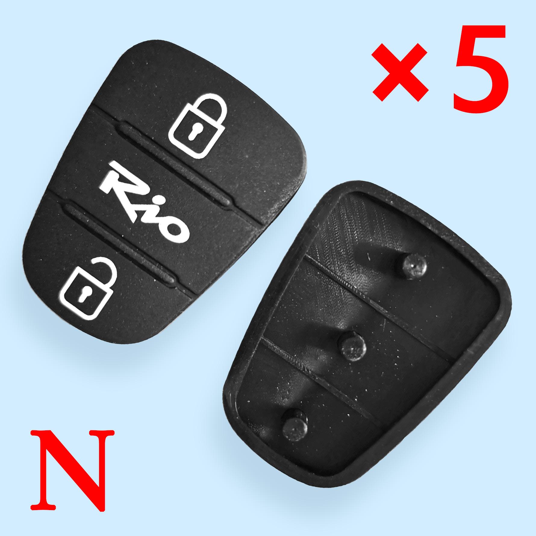 3 button Remote Keys Rubber Button Pad for Kia Rio 10 pcs