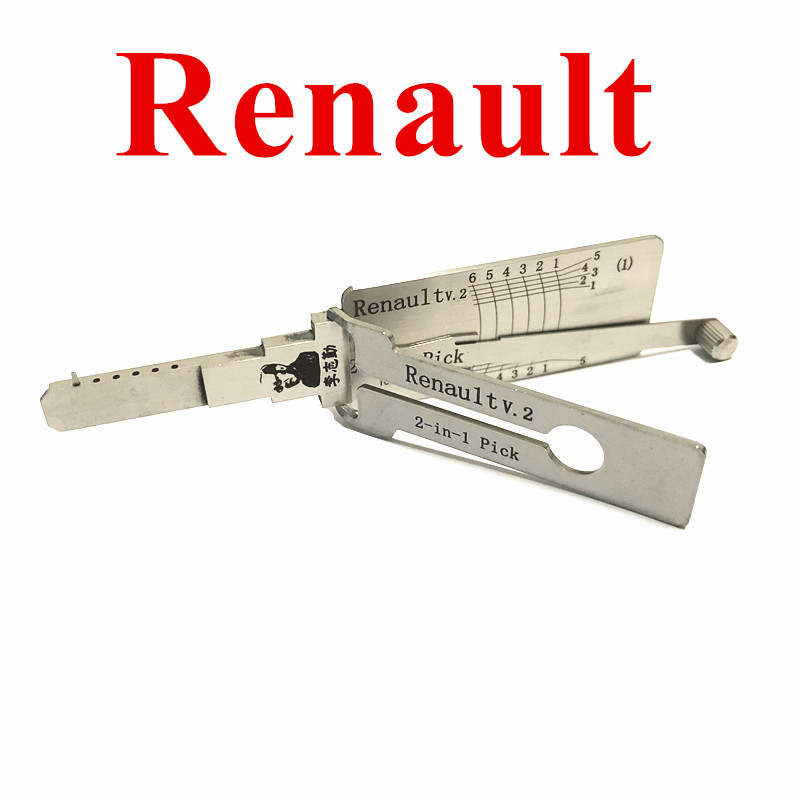 Original LISHI 2 in 1 Auto Pick and Decoder For Renault