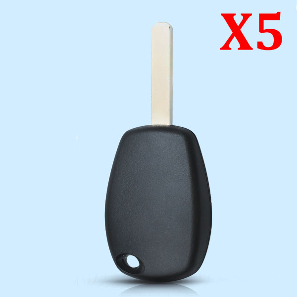 For Renault Logan No Button Remote Key Shell Case Fob Auto Key Case With VA6 Blade  - 5pcs