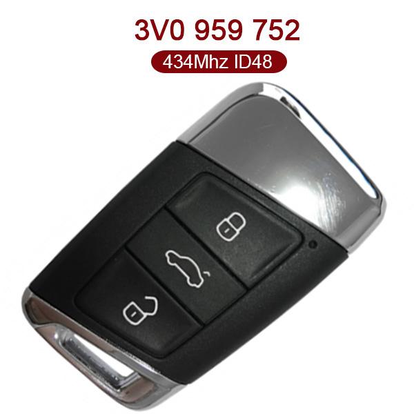 After-Market 3 Buttons 434 MHz Smart Proximity Key for VW B8 Passat - 3V0 959 752