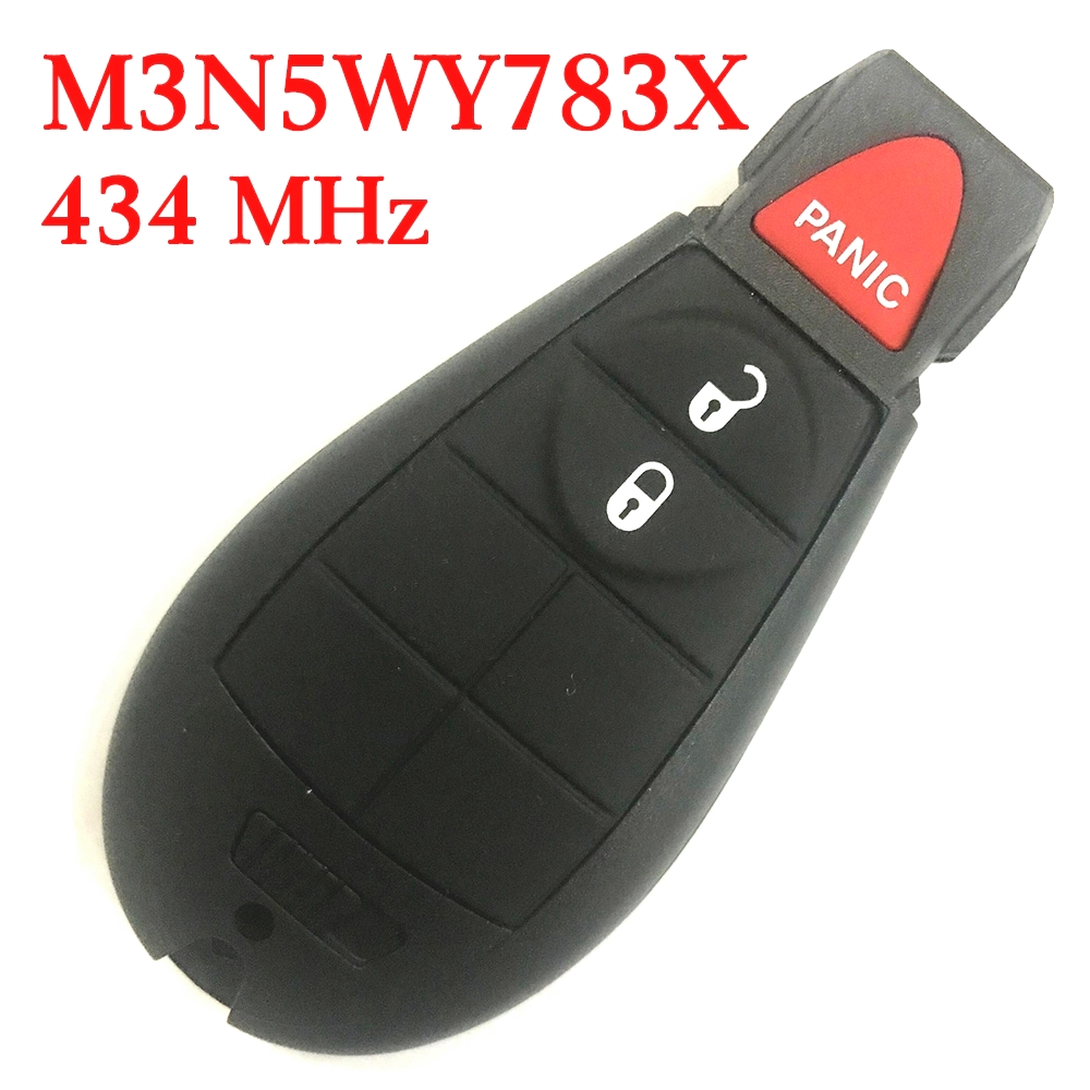 434 MHz 2+1 Buttons Remote Fobik Key for Chrysler / Dodge / Jeep / VW 2008-20017 #0 - M3N5WY783X