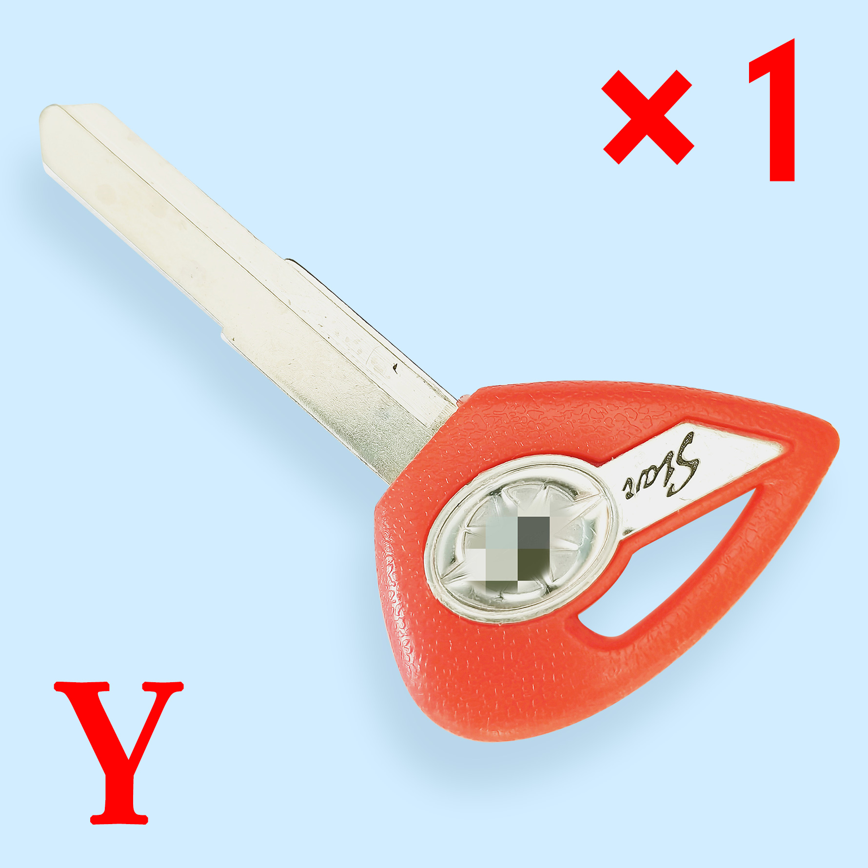 Key shell with Right blade for Yamaha Motorcycle Red Color