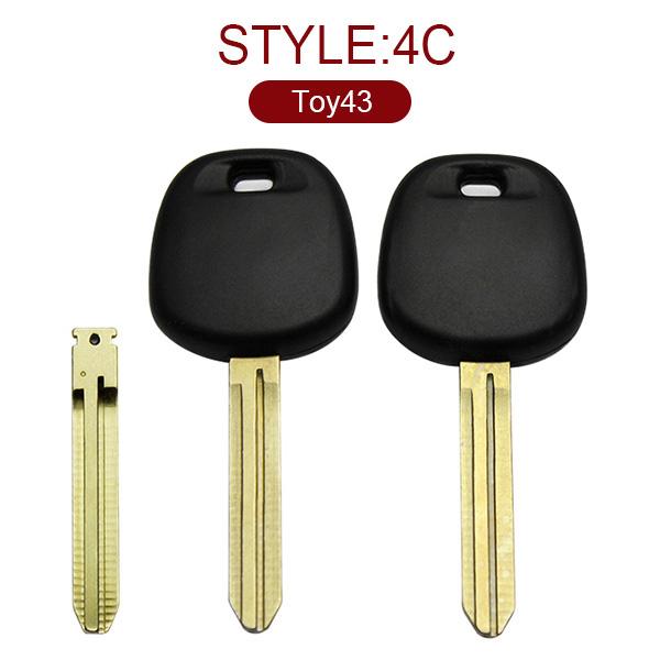 for Toyota Transponder Key (Toy43) 4C No Logo