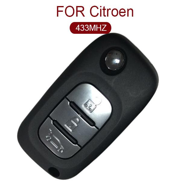 AK016023 Original for Citroen DS Flip Remote Key 3 Button 433MHz