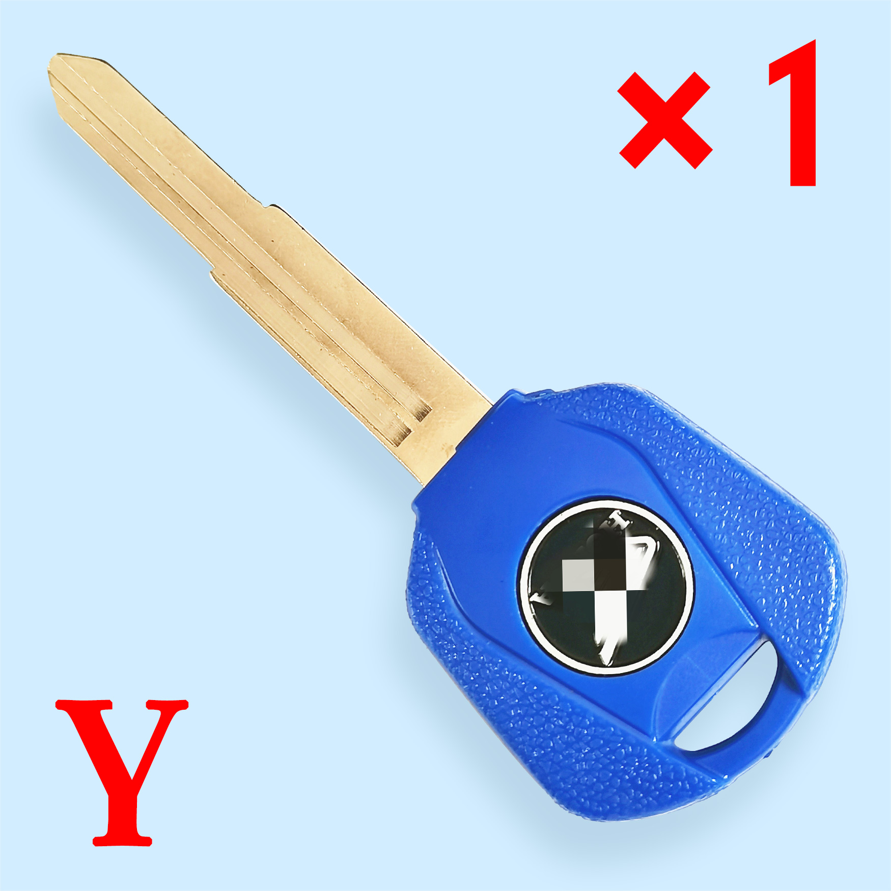 Transponder Key Shell with Left Blade Blue color for CB400 CB750  CB1000 CB1300 ST1300 Honda Motorcycle