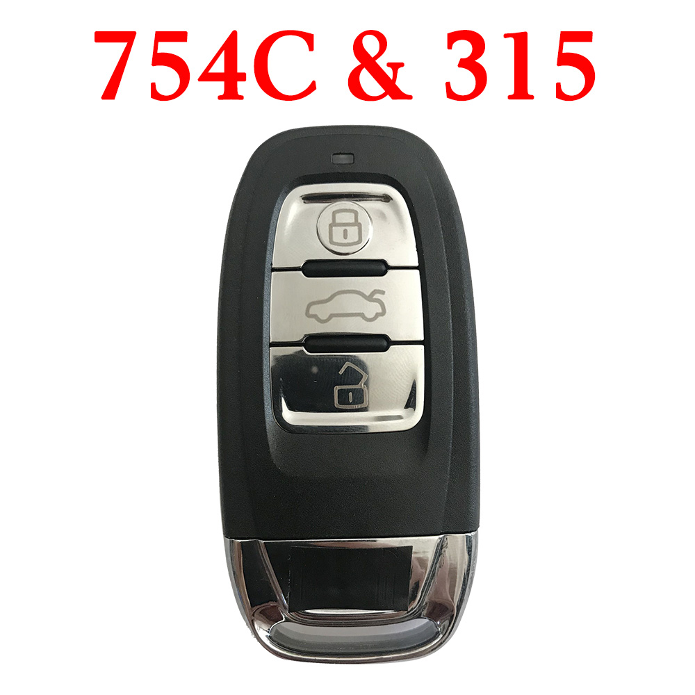 315 MHz Remote Key for Audi Q5 A4L - 8K0 959 754C