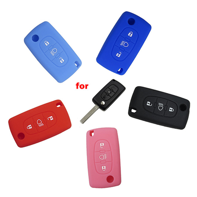Silicone Cover for 3 Buttons Peugeot 508 308 Car Keys - 5 Pieces