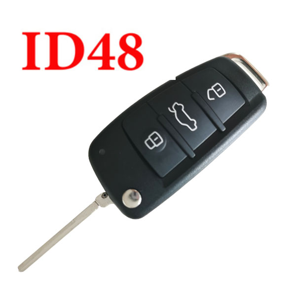 434 MHz Flip Smart Proximity Key for Audi A1 Q3 with 48 Chip Onboard  - 8X0 837 220D