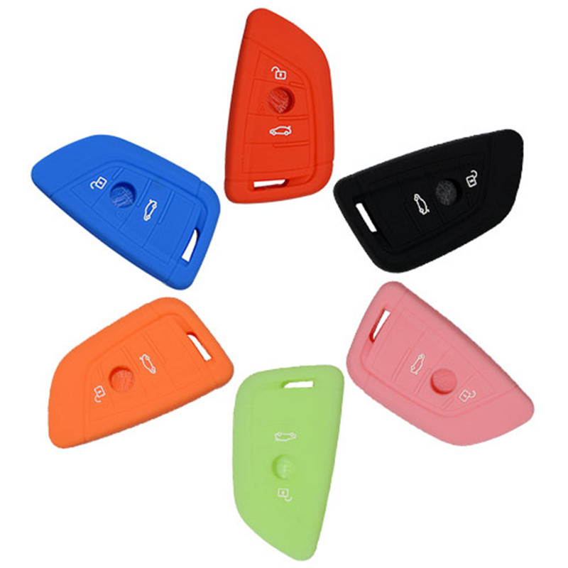 Silicone Cover for 2 Buttons BMW New X5 Car Keys - 5 Pieces