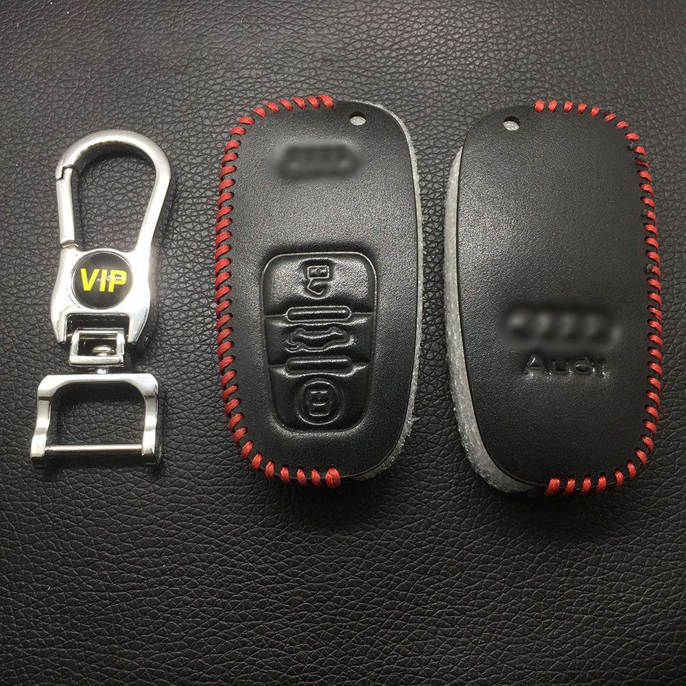 Leather Case for Audi Semi Smart Card Car Key - 5 Sets