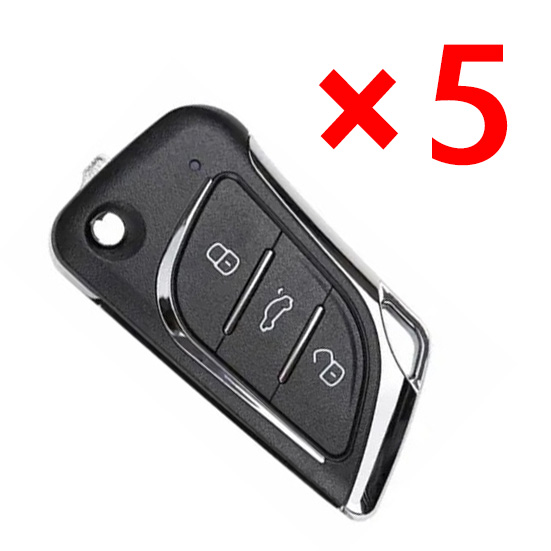 Xhorse VVDI 3 Buttons Wire Remote Key for Lexus Type  - Pack of 5