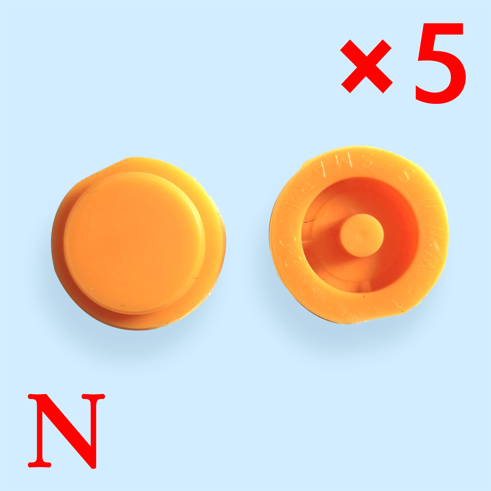 1 Button Key Shell Rubber Pad for Smart - Pack of 10
