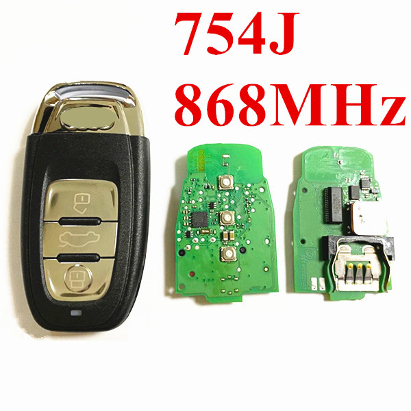 3 Buttons 868MHz Smart  Proximity key with Original Main Board for Audi A6L—8T0 959 754J