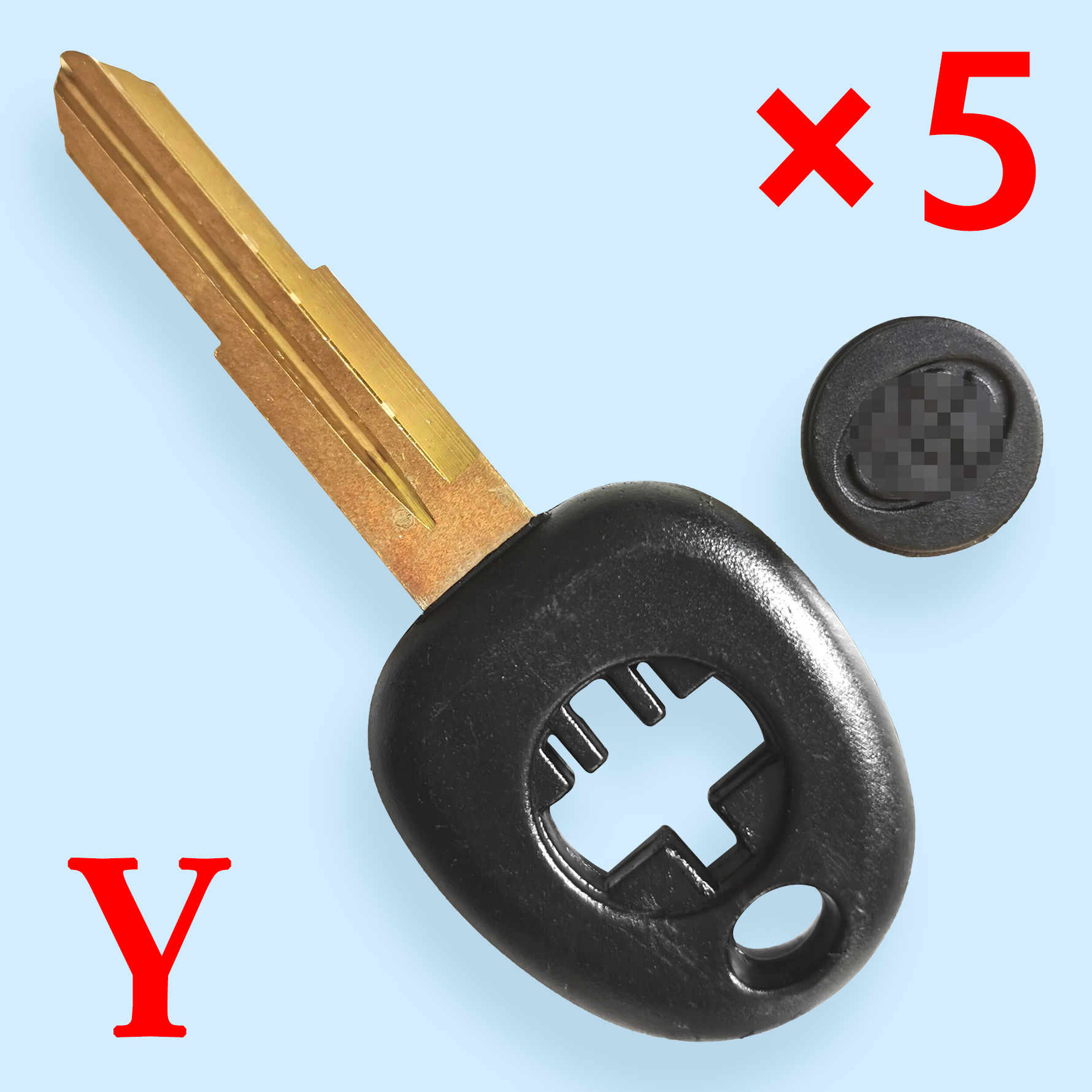 Transponder Key Shell for Toyota - Pack of 5