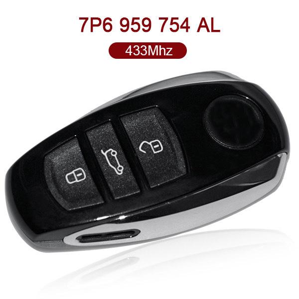 AK001021 for VW Tounreg Smart Key 3 Button 433MHz PCF7945 7P6 959 754 AL