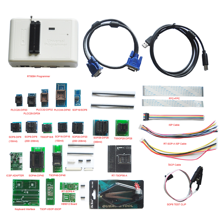 0RT809H Universal Programmer Full Kit with 24 Adapters