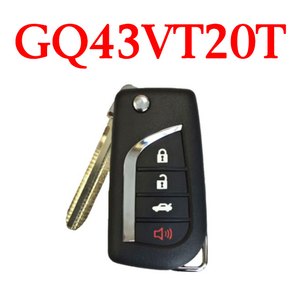 3+1 Buttons 315 MHz Remote Key for Toyota 2004-2010  - GQ43VT20T (4D67 Chip)