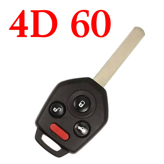433 MHz 4 Buttons Remote Head Key for 2010-2014 Subaru Legacy Outback / CWTWBU766 / 4D60 Chip / DAT17