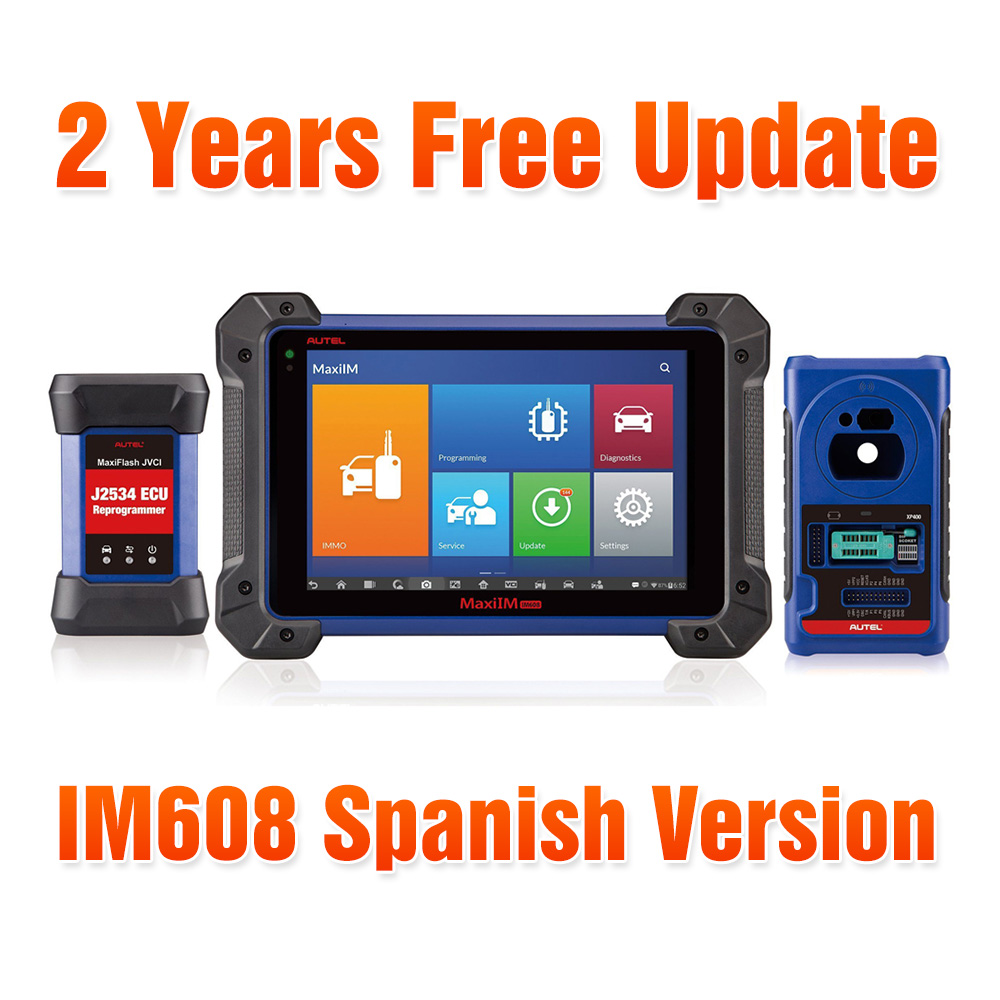 Original Autel OtoSys IM608 Advanced IMMO & Key Programming & ECU Coding Scanner - Spanish Version - With 2 Years Free Online Update
