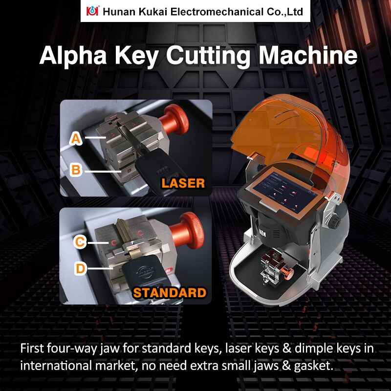 Alpha Automatic Key Cutting Machine Support Automobile,Residential,Motorcycle,Dimple,Tubulars,FO21