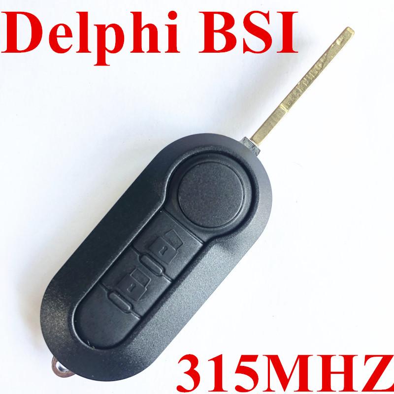 2 Button Flip Key For Fiat 500 / Dodge (Delphi BSI) 315MHZ PCF7946A / HITAG 2 / 46 CHIP