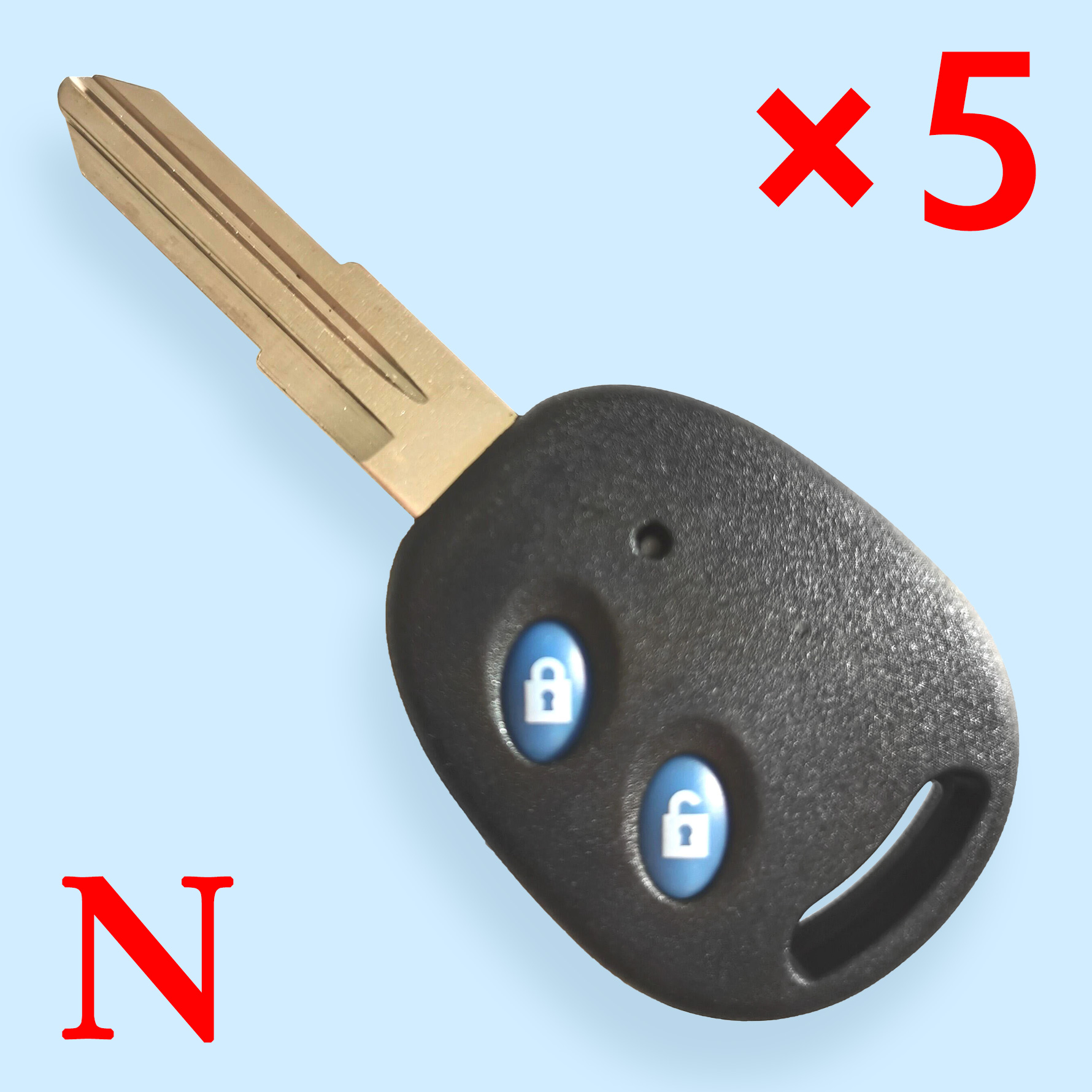 2 Buttons Remote Key Shell for Original Chevrolet LeChi- Pack of 5