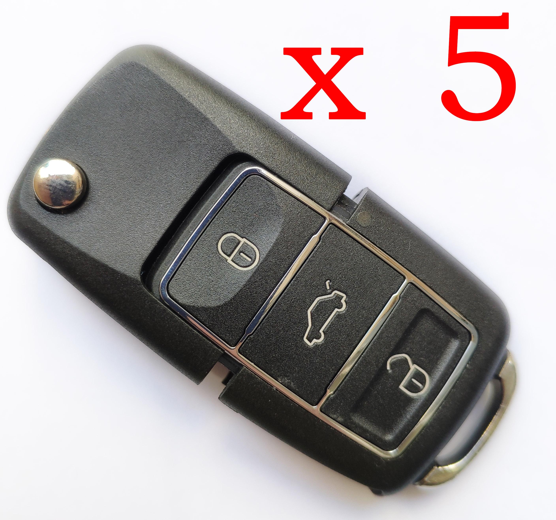 5 pieces Xhorse VVDI VW B5  Blank Type Universal Remote Control - with Blades & Logos - XKB506EN