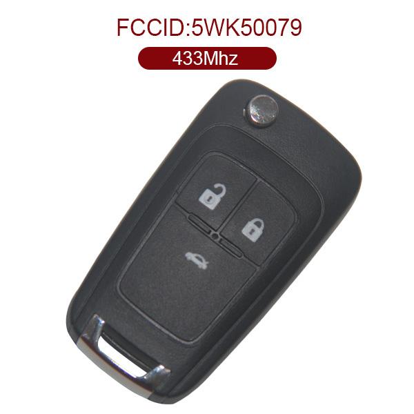 AK022002 for Holden Flip Remote Control Key 3 Button 433MHz PCF7937E 5WK50079