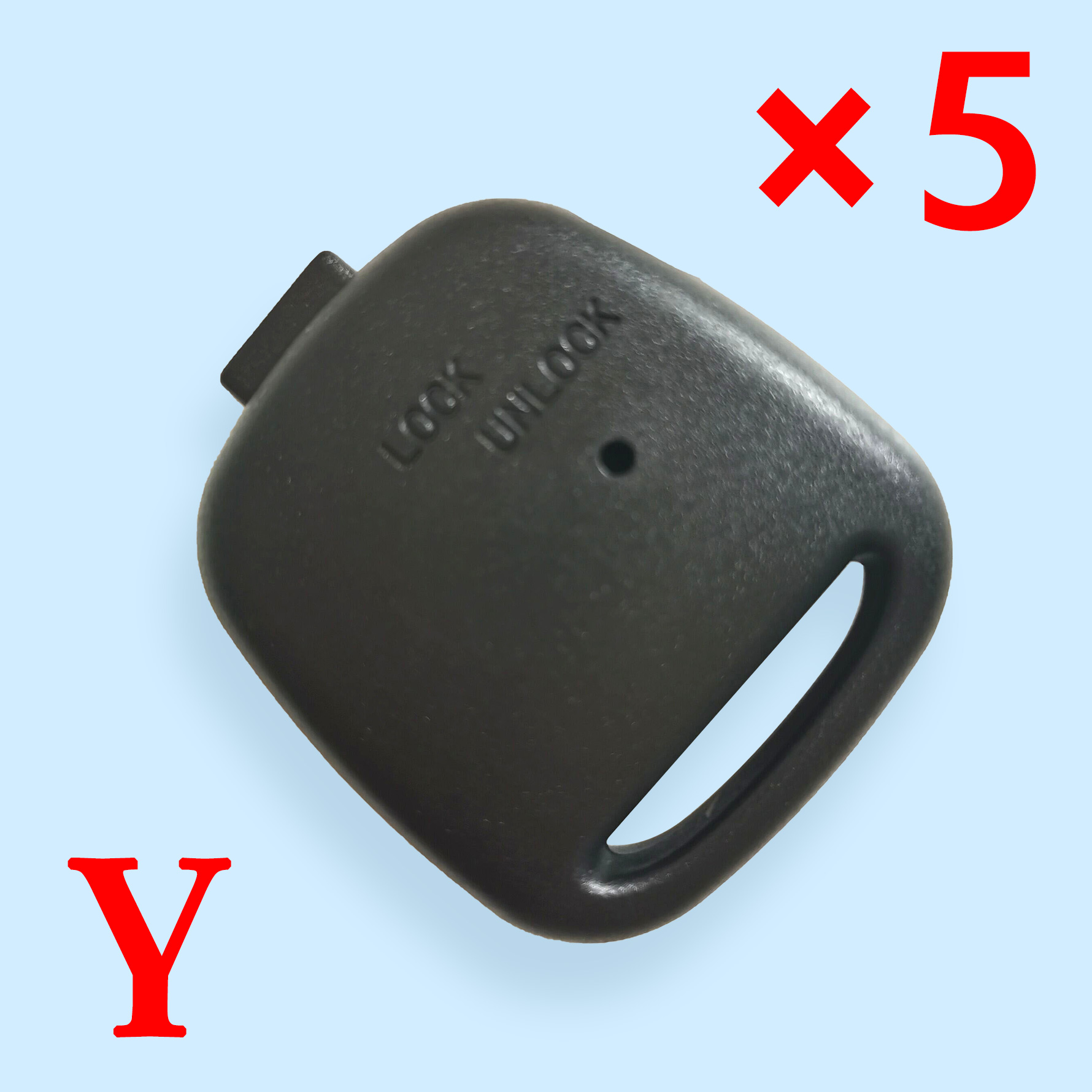 Universal key shell with Single hole on the side for Toyota   5pcs