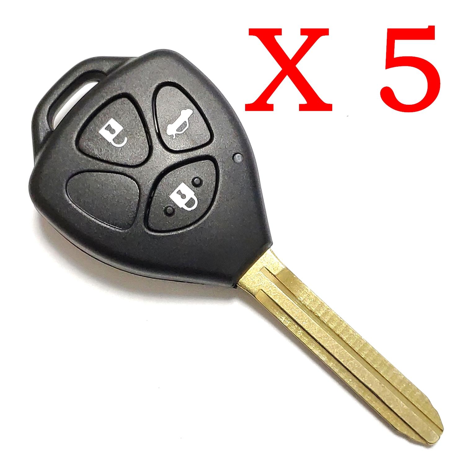 5 Pieces of Xhorse VVDI Toyota Type Universal Remote Control - XKTO03EN